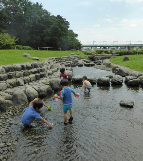 川遊び初心者キッズは二子玉川へ!の画像1