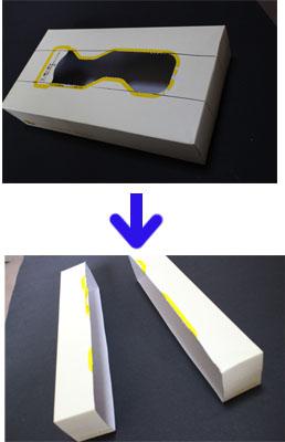 ティッシュ箱簡単手作り!いま話題の「北陸新幹線」の画像2