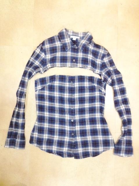 捨てられないママのシャツをキッズのスカートに簡単リメイク☆の画像1