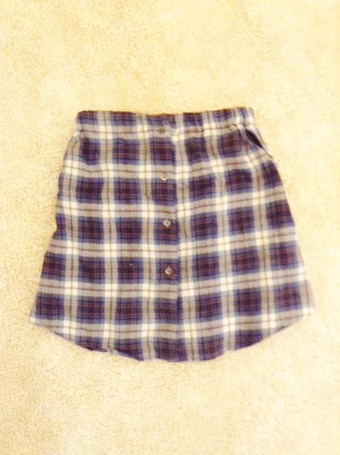 捨てられないママのシャツをキッズのスカートに簡単リメイク☆の画像2