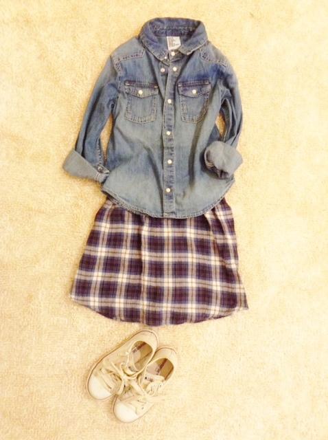 捨てられないママのシャツをキッズのスカートに簡単リメイク☆の画像3