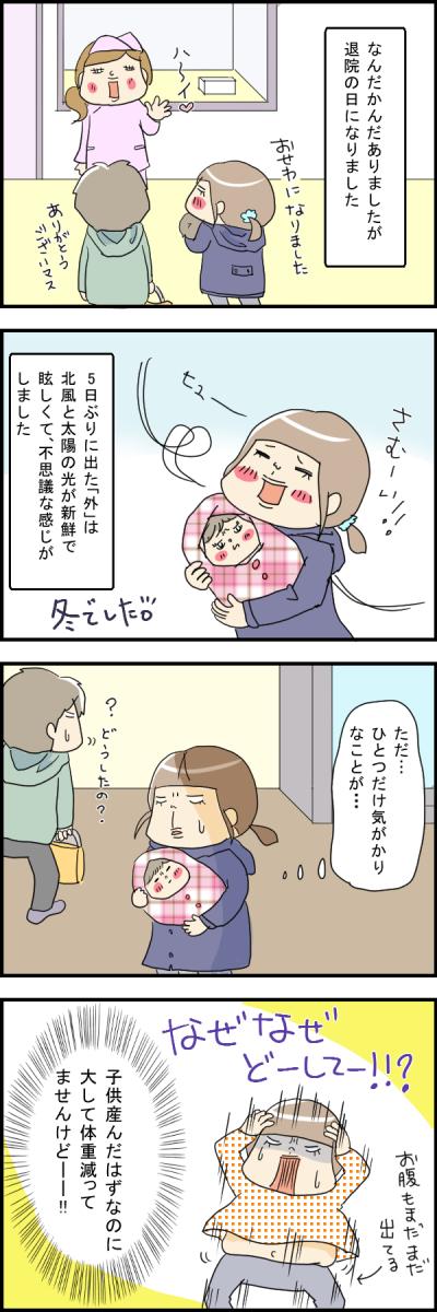 出産後の退院!でも、気がかりなのはアレが減ってないこと・・・!?の画像1