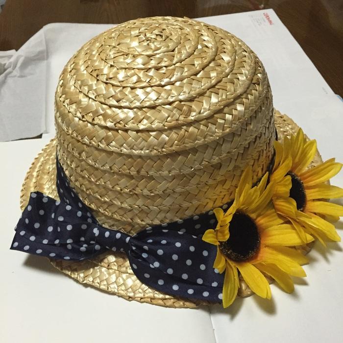 100円ショップダイソーの麦わら帽子で!夏にピッタリ可愛くリメイク♪の画像3