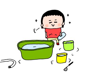 夏真っ盛り!2歳になる我が子、おうち水遊びは「○○型」!? ハナペコ絵日記<15>の画像7