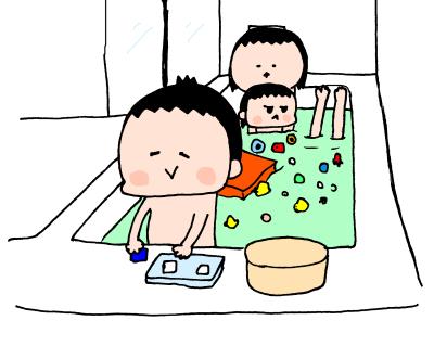 遊ぶ・遊ぶ・ひたすら遊ぶ!3兄妹のお風呂遊びはとにかく激しい~! ハナペコ絵日記<17>の画像6