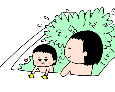 遊ぶ・遊ぶ・ひたすら遊ぶ!3兄妹のお風呂遊びはとにかく激しい~! ハナペコ絵日記<17>の画像10