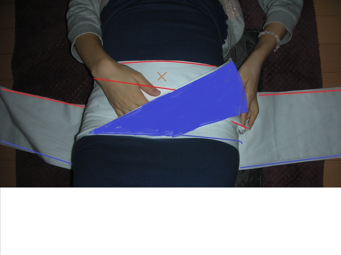 戌の日の腹帯!お腹が大きくなってもフィットする「さらし」を簡単に巻く方法の画像2