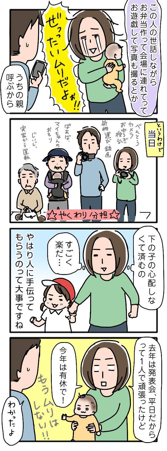 初めての運動会はやることがたくさん・・・困った時は、あの人にヘルプ! ~姉ちゃんは育児中 番外編3~の画像1
