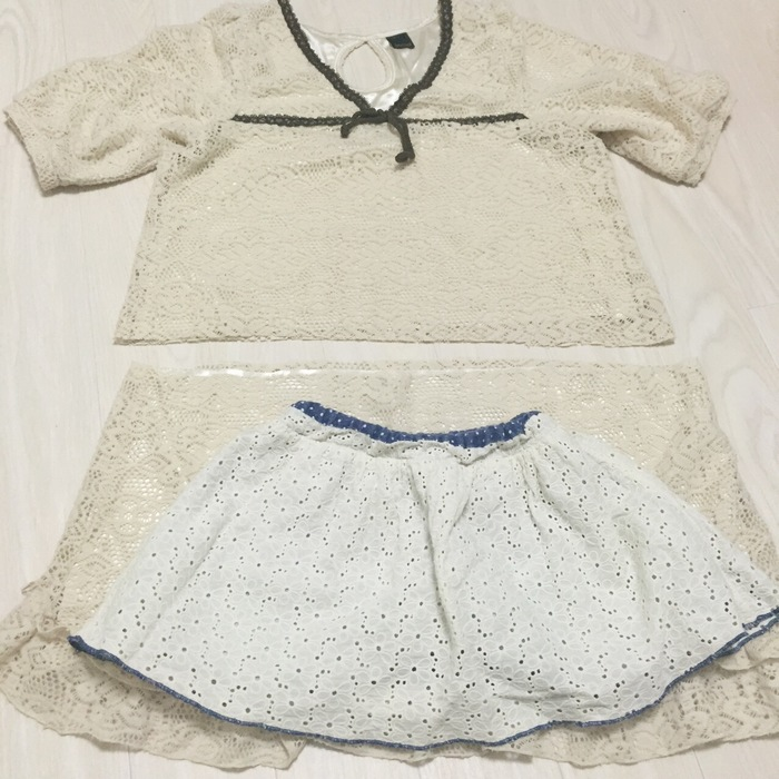 ママの着なくなったワンピースを娘のスカートに簡単リメイクする方法の画像2