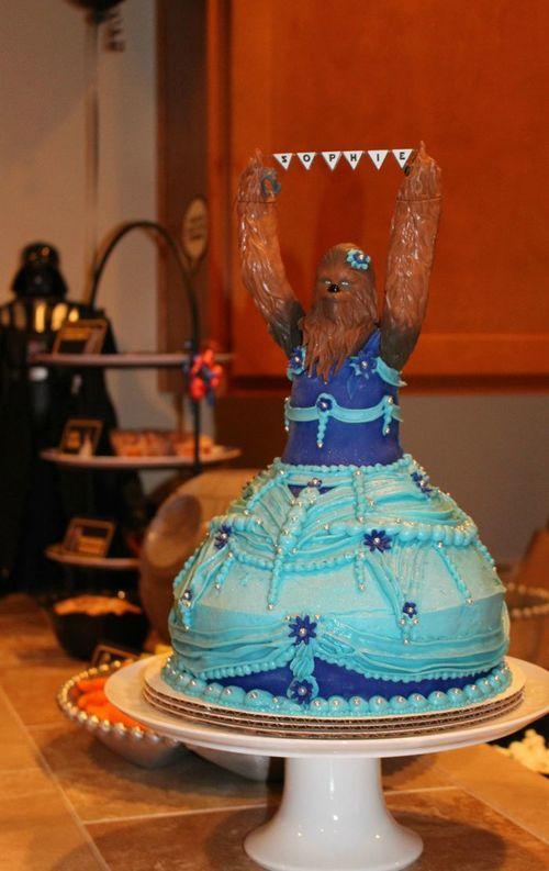 スター・ウォーズのチューバッカがとんでもない姿に!娘の誕生日会がスゴイ!のタイトル画像