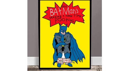 「バットマンって、うんちするの大変そう。」娘の発言をアートに変えた?!パパの傑作イラスト10選のタイトル画像