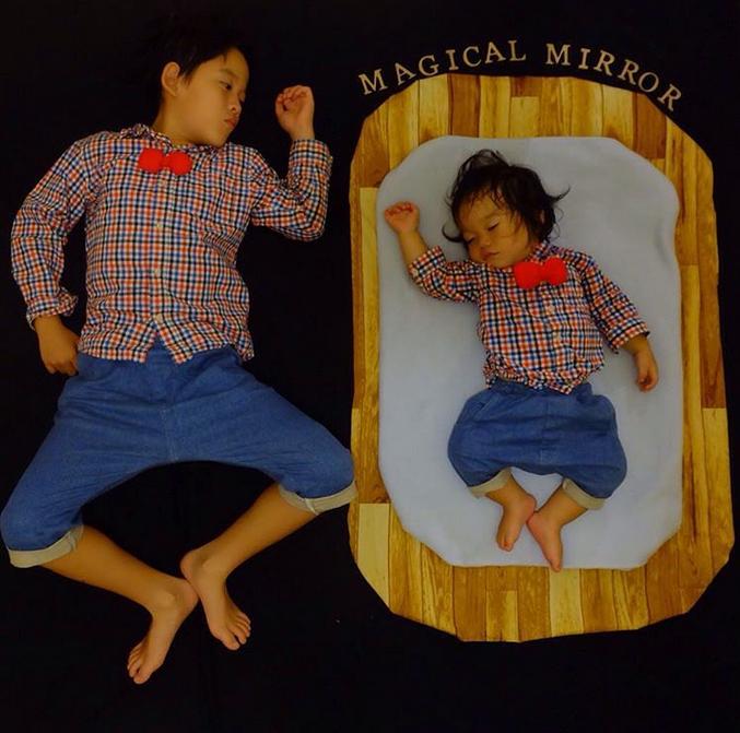 すやすや寝てる我が子をアートで飾ろう!人気の「寝相アート」が可愛い♡の画像9
