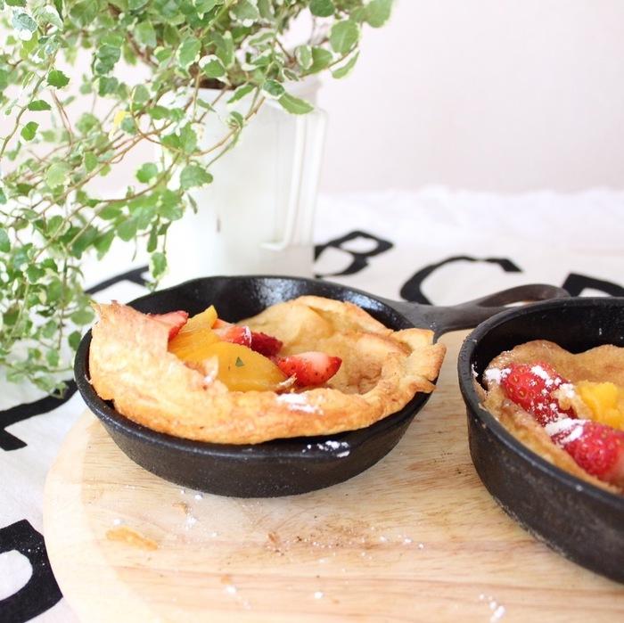 パンケーキの新定番!外はカリカリ、中はふんわり…スキレットで作る話題のレシピ♡の画像4