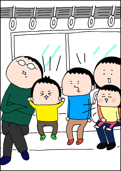 電車内で騒ぎ出す子どもたち!そんな時は、この対応に限るんですの画像1