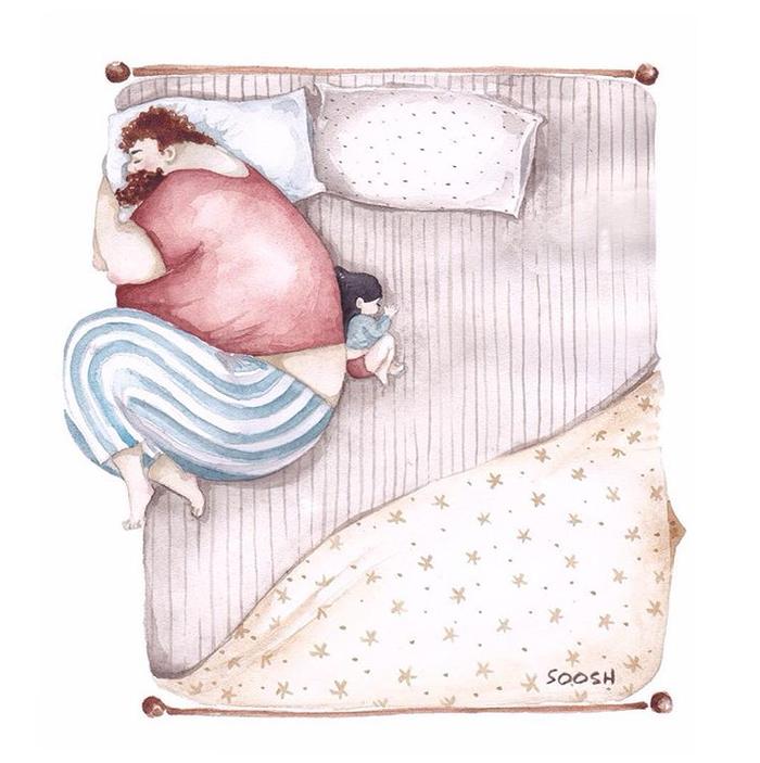 「大きなパパと小さな娘」のイラストに、世界中が心温まる!の画像12