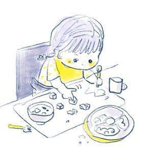 """1歳児の可愛さが""""ギュッ""""と詰まったイラストの数々。とにかく癒しパワーがすごいのです…の画像6"""