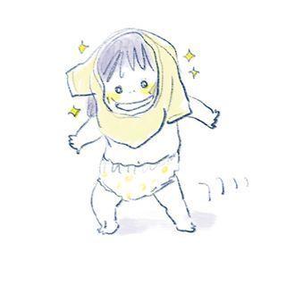 """1歳児の可愛さが""""ギュッ""""と詰まったイラストの数々。とにかく癒しパワーがすごいのです…の画像1"""
