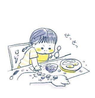 """1歳児の可愛さが""""ギュッ""""と詰まったイラストの数々。とにかく癒しパワーがすごいのです…の画像7"""