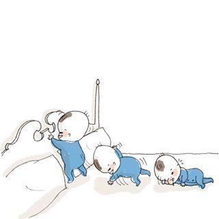 「まだ寝たくないベビー&ママ激痛」何されても最後は癒される♡インスタまとめの画像3