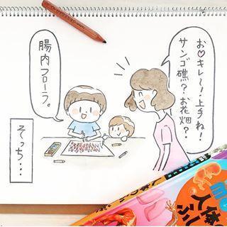 お絵かきのモチーフは「腸内フローラ」。理系男子の可愛さ♡を贅沢にまとめましたの画像5