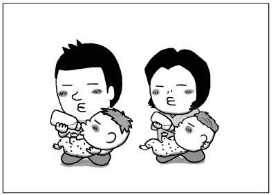 """「準備してたら…もう夜。」2児のパパが描く""""育児漫画""""があるあるの嵐!の画像12"""