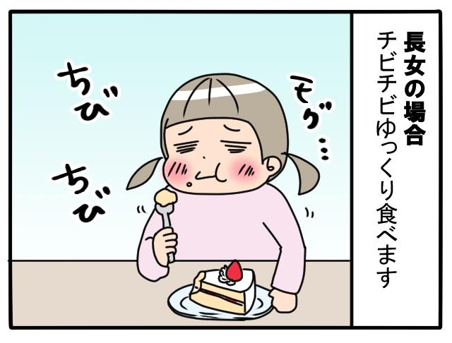 長女と次女。おやつの食べ方がまったく違っておもしろい(笑)の画像2