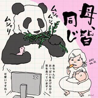 「上野の母パンダに、親近感。」新米ママのリアルに共感せずにはいられない!!の画像12
