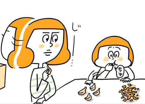 """みかんの食べ方が""""贅沢""""な2歳娘。TVを見て「これが理由!?」と思った出来事のタイトル画像"""