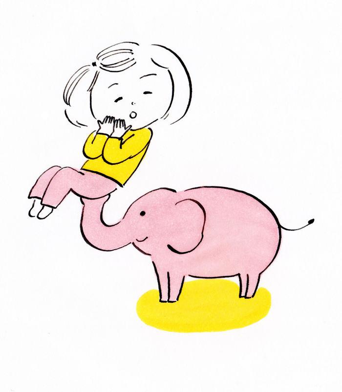 ピンク色の象を描いた娘と、「心の根っこ」の話。の画像2