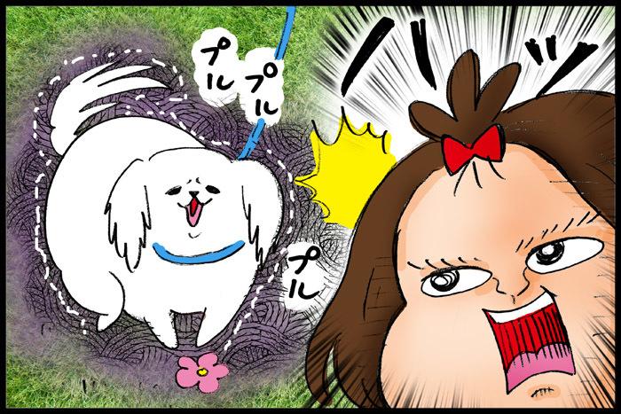 3歳娘の犬のお散歩デビュー!さっそく訪れた試練に、どう対応する…!?の画像3
