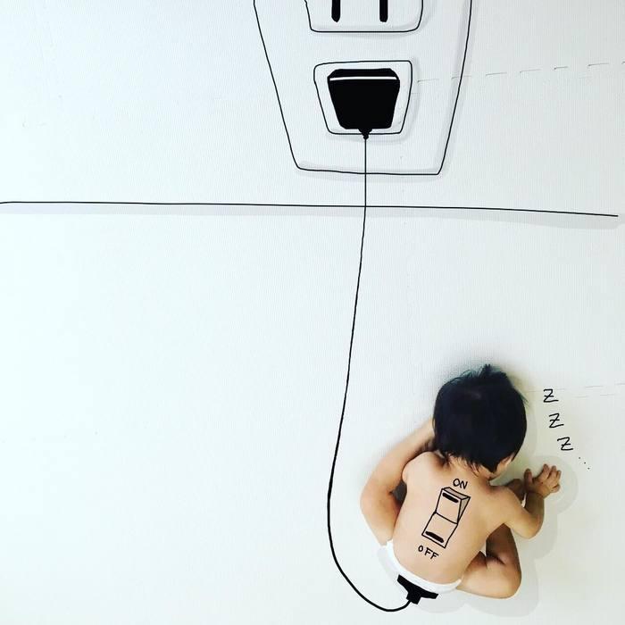 「寝相らくがきアートのコツは?どういう風に描いてるの?」お聞きしました!!の画像1