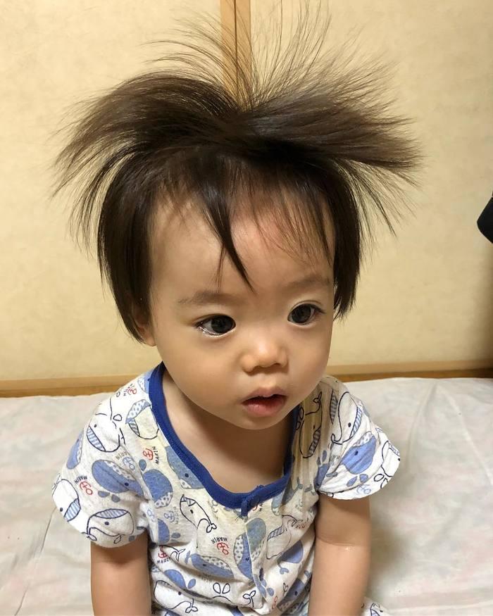どうしたらこうなるの…?「#髪の毛爆発」ベビー&キッズにじわじわくる。の画像15